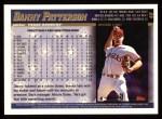 1998 Topps #48  Danny Patterson  Back Thumbnail
