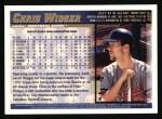 1998 Topps #237  Chris Widger  Back Thumbnail