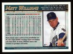 1998 Topps #439  Matt Williams  Back Thumbnail