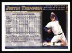 1998 Topps #315  Justin Thompson  Back Thumbnail