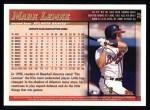 1998 Topps #36  Mark Lemke  Back Thumbnail