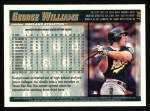 1998 Topps #186  George Williams  Back Thumbnail