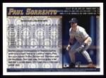1998 Topps #111  Paul Sorrento  Back Thumbnail