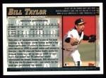 1998 Topps #101  Bill Taylor  Back Thumbnail