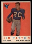 1959 Topps #87  Jim Patton  Front Thumbnail