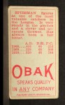 1911 T212 Obak #143 RED M.J. Spiesman  Back Thumbnail