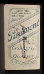 1909 T206 THR Fred Merkle  Back Thumbnail