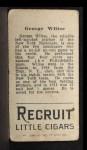 1912 T207  Hooks Wiltse  Back Thumbnail