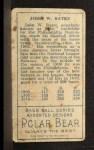 1911 T205  John Bates  Back Thumbnail