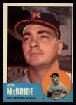 1963 Topps #510  Ken McBride  Front Thumbnail