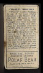 1911 T205  Deacon Phillippe  Back Thumbnail