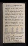 1911 T205  Harry Steinfeldt  Back Thumbnail
