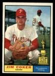 1961 Topps #144  Jim Coker  Front Thumbnail