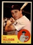 1963 Topps #75  Bob Allison  Front Thumbnail