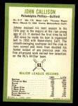 1963 Fleer #51  Johnny Callison  Back Thumbnail