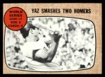 1968 Topps #152   -  Carl Yastrzemski 1967 World Series - Game #2 - Yaz Smashes Two Homers Front Thumbnail