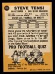 1967 Topps #119  Steve Tensi  Back Thumbnail