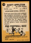 1967 Topps #118  Scott Appleton  Back Thumbnail