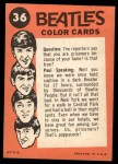 1964 Topps Beatles Color #36   Beatles bowing Back Thumbnail