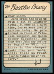 1964 Topps Beatles Diary #29 A Paul McCartney  Back Thumbnail