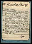 1964 Topps Beatles Diary #20 A Paul McCartney  Back Thumbnail