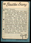 1964 Topps Beatles Diary #39 A George Harrison  Back Thumbnail