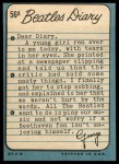 1964 Topps Beatles Diary #56 A George Harrison  Back Thumbnail