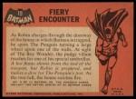 1966 Topps Batman Black Bat #19 BLK  Fiery Encounter Back Thumbnail