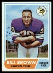 1968 Topps #133  Bill Brown  Front Thumbnail