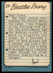 1964 Topps Beatles Diary #27 A Paul McCartney  Back Thumbnail
