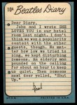 1964 Topps Beatles Diary #10 A Paul McCartney  Back Thumbnail