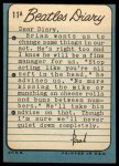1964 Topps Beatles Diary #11 A Paul McCartney  Back Thumbnail