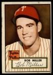 1952 Topps #187 CRM Bob Miller  Front Thumbnail