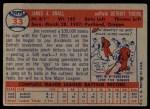 1957 Topps #33  Jim Small  Back Thumbnail
