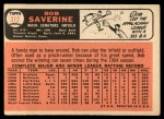 1966 Topps #312  Bob Saverine  Back Thumbnail