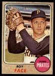 1968 Topps #198  Roy Face  Front Thumbnail
