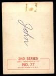 1964 Topps Beatles Black and White #77  John Lennon  Back Thumbnail