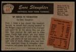 1955 Bowman #60  Enos Slaughter  Back Thumbnail