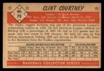 1953 Bowman #70  Clint Courtney   Back Thumbnail
