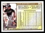 1999 Topps #107  Dave Martinez  Back Thumbnail