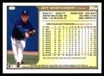 1999 Topps #179  Jeff Montgomery  Back Thumbnail