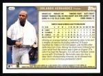1999 Topps #422  Orlando Hernandez  Back Thumbnail