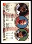 1999 Topps #455  Barry Bonds / Manny Ramirez / Larry Walker  Back Thumbnail