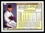 1999 Topps #72  Javy Lopez  Back Thumbnail