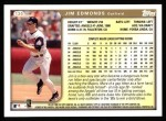 1999 Topps #130  Jim Edmonds  Back Thumbnail