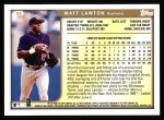1999 Topps #94  Matt Lawton  Back Thumbnail