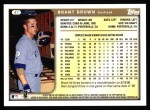 1999 Topps #47  Brant Brown  Back Thumbnail