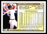 1999 Topps #193  Jeff King  Back Thumbnail
