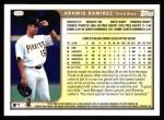 1999 Topps #113  Aramis Ramirez  Back Thumbnail