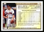 1999 Topps #405  Kevin Millwood  Back Thumbnail